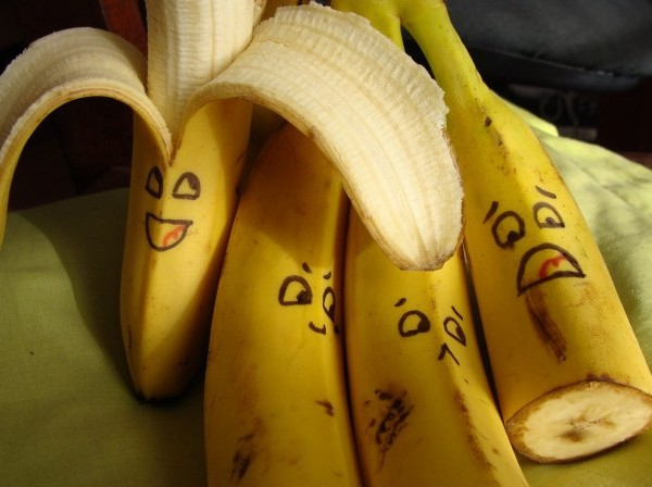 Bananas high calories food